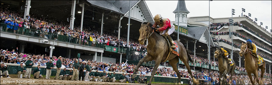 Orb winning the 2013 Kentucky Derby